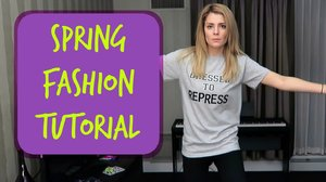 SPRING FASHION TUTORIAL // Grace Helbig - YouTube