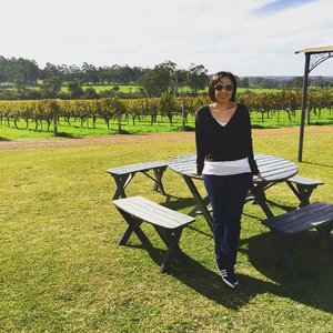 Throwback to our lovely lunch at Brookwood Estate @ Margaret River. The view, the weather, even the air is different! #clozette #ootd #margaretriver #brookwoodestate