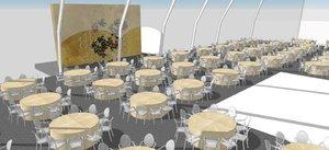 Dinning hall setup for wedding