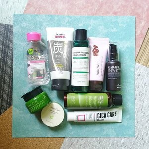 Sharing my current night routine.. all of these products are really great and effective I have sensitive skin and it's hard for me to find a product that works on my skin, This routine works for me even if I'm suffering from a bad breakout. 😘😘😘 . . #AcneProneSkinCare #sensitiveskincare #somebyme #Innisfree #benton #Cicacare #garnier #Clozette
