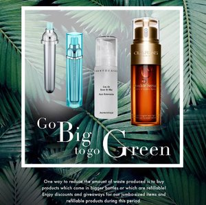 🍀Go Big to Go Green🍀 From Now to 14 April Takashimaya is running the 'Go Green' campaign. For this week, Takashimaya is encouraging customers to 'Go Big to Go Green'. Buy products in bigger sized and products which are refillable to reduce the total amount of waste products and play your part in saving the environment. 🌟These are some attractive promotions during the campaign to look out for (Swipe Next for the images): ✨Hera - Return any cushion casings and receive an additional Black Cushion Refill of your shade with purchase of any Black Cushion ✨LANEIGE - Receive a Water Bank Essence 30ml with purchase of Water Bank Essence 70ml, receive a 5-pc Miniature Gift Set with a minimum nett purchase of $150 or receive a 4-pc Deluxe-sized Gift and Vanity Pouch with a minimum nett purchase of $230 ✨Chantecaille - Rosewater Harvest Refill Set at $195 (worth $227) (limited to first 30 sets). ♻️Head down to Takashimaya from 25 March to 14 April and support the Go Green campaign to save the environment! #TakashimayaSG  #lovetheearthwithTaka . . . #beauty #beautysg #shoppingsg #beautyjunkie #igbeauty #instabeauty #flatlay #sp #ad #clozette #beautycommunity #igbeauty #igmakeup #igsg #sgig #igdaily #instadaily