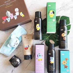 Are you a LINE FRIENDS Fan too? innisfree launched the Cutest 'BT21' Limited Edition This Summer! 🧡 innisfree spiced up its best-selling products 🔺 Super Volcanic Clay Mousse Mask 2X 🔺 Volcanic Pore Clay Mask and Cleansing Foam Special Set with 'UNIVERSTAR BT21' characters: KOYA, RJ, SHOOKY, MANG, CHIMMY, TATA, and COOKY. 🎉Adding more excitement to this summer, beach towels and slogan towels with these charming characters and eye-catching magnet sets will definitely set millennials' hearts on fire. ❗Only for Global Fans! innisfree 'BT21' limited edition has launched from July 1st in 11 regions worldwide (except Korea). ⭐Collect yours now at all @innisfreesingapore stores! . . . #innisfreesingapore  #PoreCareHero #BT21 #KOYA #RJ #SHOOKY #MANG #CHIMMY #tataloo #COOKY #VAN #innisfree #beauty #skincare #kbeauty #koreanbeauty #beautysg #sgbeauty #sp #clozette