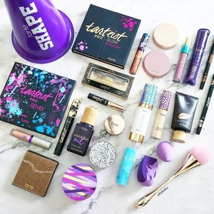 Saturday makeup fun with @tartecosmetics. 💜Thank you #tartecosmetics for hosting the Shape Tape is my Cardio event last month and the generousity! I had fun trying and playing with the new tarte makeup! . . . #tarte #tartesg #tarteshapetapenation #sephoralovestarte #beauty #makeup #skincare #cosmetics #beautyjunkie #igbeauty #instabeauty #flatlay #sp #ad #clozette #beautycommunity #igbeauty #igmakeup #igsg #sgig #igdaily #instadaily #sephorasg