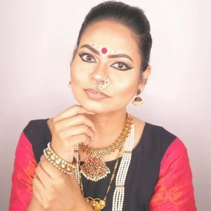On the 7th day of Navratri, Goddess Kalratri is worshipped. She is regarded to be one of the many destructive forms of Goddess Shakti which includes Kali, Mahakali, Bhadrakali, Bhairavi, Mrityu, Rudrani, Chamunda, Chandi and Durga  Hair, Makeup and Model - me Accessories are model's own Outfit from @varnamgallery  #clozette #clozetteco #starclozetter #indianblogger #indianbloggertrendz #biggboss3tamil #biggbosstamil3 #madaboutmatte #biggboss3 #biggboss #sgyoutubers #sgig #sgbeauty #sgbeautyvlogger #indianmakeup #navratri2019
