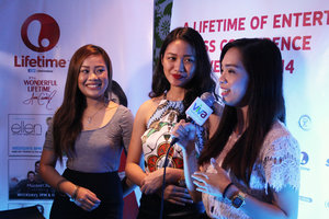Clozette Ambassadors being interviewed after the #LifetimeWithAnne press conference