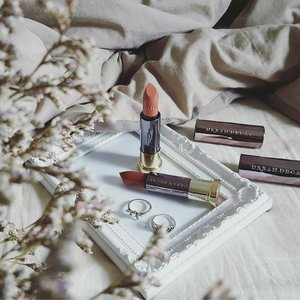 Picked 1993 and Insanity for my first two Urban Decay Vice lipsticks 😋 1993 is a muted dark brown with comfy matte finish, while Insanity is a light brown with sheer in cream finish. Color swatches on my dayre! #clozette
