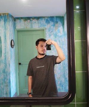 Working on my mirror selfie game.