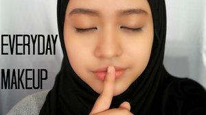 Simple Everyday Makeup - YouTube bila malas mekap lebih sgt  boleh try simple mcm ni very fresh look