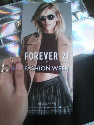 Forever 21 tix for PhFW SS 15