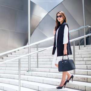 Ace you're #officeootd with a monochrome combo. #theambitionista #ootd #corporatechic #dress4work