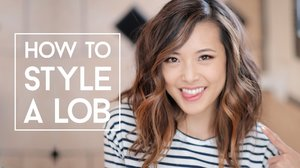 How To Style A Lob (No Heat & Curls) - YouTube