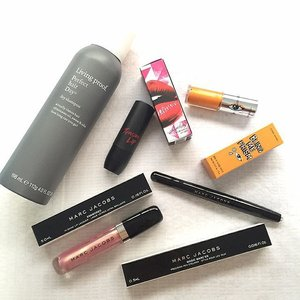 Prize collected from @weekendersgp! THANK YOU!!! 😘💕 #weekenderbeautygiveaway #weekendersgp #giveaway #contest #beauty #styling #potd #sgig #instagood #instalove #skincare #freebies #instalove #cosmetics #makeup #MarcJacobs #ettudehouse #clio #tensionlip #eyeliner #lipstick #dryshampoo #clozette