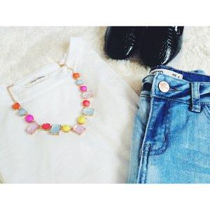 Today is a causal day!!! Love the candy necklace.