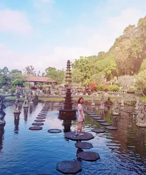 Today is a gift. Embrace it.  Taman Tirta Gangga - a former royal palace made famous with its instagrammable water palace. The whole premise is pretty small and a walk around takes 30mins to 1hour depending on your pace.  On the other hand, good news for the family as we welcome my brother's newborn baby into the family 📍 Bali, Indonesia . . . . . . . . .  #bali #visitindonesia #exploreindonesia #explorebali #tropicalislandidea #clozette