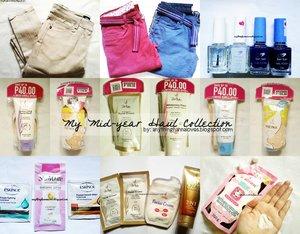 Because it's midyear and sale is everywhere! Check out my blog for new posts! :) #Blogger #Hauls #MidyearSale #Whoops #Bench #SanSan #Nail Polishes #Nails #Beauty #iWhiteKorea #SkinCare #Eskinol #SkinWhite #ABonne #ABonneSpaMilkSalt #BundlePack #SaltScrub