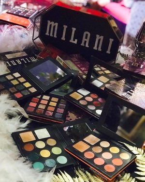 "If you've got a penchant for large palettes with bold shades, @milanicosmetics_singapore has done it again with these lovely gilded #eyeshadow #palettes - they're very pigmented and have a nice smooth texture! Some of the shades - as you might expect with a range of #eyeshadows called ""Gilded"" - do have chunky glitter, and some also have a metallic kind of sheen (which I personally found really pretty and actually not fallout-prone!). Most of the #palette shades are a mix of mattes, shimmers and metalics, with a couple of the palettes being heavier on the glitter shades. I'm always very impressed with how GOOD #milani is, especially for the price range! There are also other things that give you #datblingdoe, like the eyeshadow toppers, and the foundations and concealers are great as well, but their eyeshadow palettes were really super bomb! . . #milanicosmetics #milanimakeup #milanieyeshadow #milanisg #smittenpr #makeup #clozette #beauty #eyeshadowpalettes #eyeshadowpalette #drugstoremakeup #drugstorebeauty #flatlay #beautybloggers #makeupjunkie #makeupaddict #makeupcommunity #makeuplife #makeuplover"