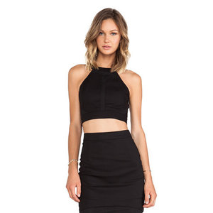 Black cropped tops are great!