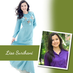 Lisa Surihani: Lisa started off as a commercial model at a very young age. She's now one of the top actresses in Malaysia.