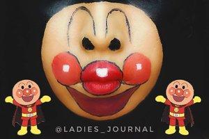 LMAO Sorry @chakacola your Anpanman become Clown 🤡 😭🤣🤣🤣 #ladies_journal #facepainting #facepaint #anpanman #anpan #sfxmakeup #sfx #mua #makeup #undiscovered_muas #clozette #clozetteid #makeuptransformation #halloweenmakeup #halloween