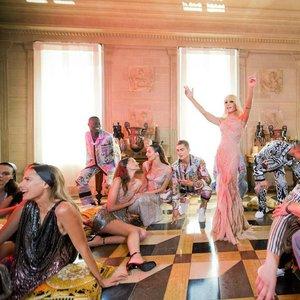 Donatella Versace reacts to