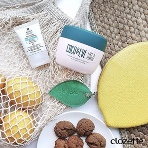 Summertime bliss with these new launches: #kiehlssg Ultra Light Daily UV Defense in a new Aqua Gel texture, and #cocoandeve's Coconut & Fig Hair Masque from #sephorag. #Clozette #ClozetteSHOTS #DermatologistSolutions