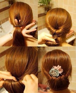 2-minute hair updo