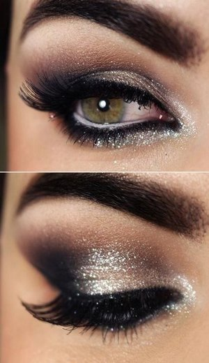 Shimmery smoke eyes perfect for events