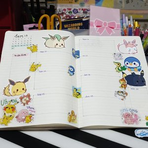 Still can't get over @noxieraa #eeveelutions stickers. Would get more in future events. #clozette #clozettecosg #clozettedaily #bulletjournal #bujoweekly #planneraddict #plannernerd #plannerjunkie #plannercommunity #planmylife #bujobeginner #pokemon #eevee #bulletjournaladdict #bujoaddict #stickersgalore