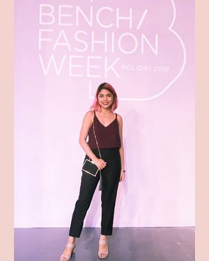 Bench Fashion Week never disappoints. A showcase of cutting-edge and contemporary pieces made by talented and skilled fashion designers has once again taken over the fashion scene. Cheers to Day 1!  Photo taken by: @pauline_suarez . . . . @cottononphl @kashiecaph @ivaraseron @human_official . . . . . . #clozette #bloggerband #bloggerph #bloggersph #blogger #lifestyleblogger #lifestylebloggerph #ootdph #benchfashionweek #benchfashionweek2018 #bfw_holiday2018 #lightroom
