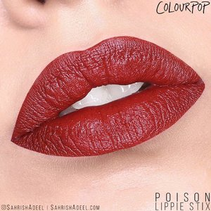 It has been a while since I posted a red lip swatch. 😊 This is one of my favorite matte lippie stix by @ColourPopCosmetics ❤️ Super pigmented and not blotchy at all. 😍 Unfortunately, the first one I bought came with a very fishy smell, just like when the lipsticks expire. 😢 However, this happened with one of a million lippie stix I have bought from them. So it is all good! 😊 ⠀ .⠀ #SahrishAdeel #NotSponsored #ColourPop #ColourPopCosmetics #ColourPopme #CrueltyFree #Poison⠀⠀