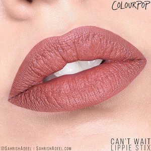 One of my favorite shades from Lippie Stix range by @ColourPopCosmetics . 😍 😍  Can't Wait has the Matte X formula but is pretty creamy. What do you think of this shade?⠀ ⠀ ps: I need to swatch lipsticks from other brands too. 🙈 🙈 ⠀ .⠀ #SahrishAdeel #NotSponsored #ColourPop #ColourPopCosmetics #ColourPopme #CrueltyFree #CantWait⠀ ⠀