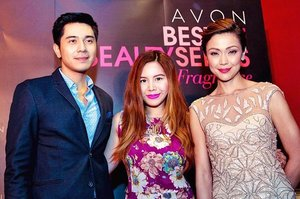- Side by side with Avon  Ambassadors; #PauloAvelino for  #BlackSuede and #JodiStaMaria  for #AvonCherish. ✨ Jodi loves how  the fragrance makes her feel warm  and cozy, reminding her of  precious moments shared with  people she cherishes. 💕 This makes  a perfect gift for your loved ones  so shop some #AvonFragrance  at http://bit.ly/AvonShopCD (clickable link in my bio 👆) and use  CRISTINA100OFF 'til Feb.29, 2016  to get P100 off your purchase! 😉 #ProudtoWear #Clozette