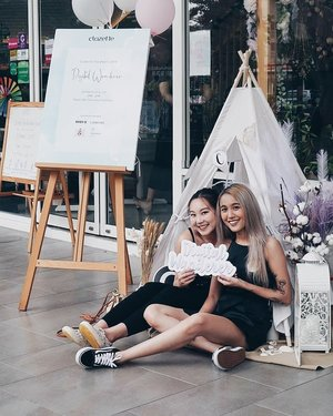 Glamping in style with my Community partner in crime! It was def fun & hectic planning parties with this one. I will miss you! 💕💕💕 ⠀ #clozetteteaparty2019 #clozette
