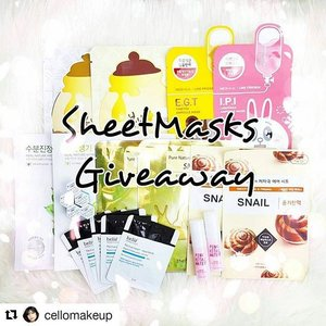 @cellomakeup ・・・Good Morning lovelies~ The best way to cure your Monday Blues is by receiving new products! So here I am doing another giveaway 😉 Hooray~You will receive all the items on this post 😘How to participate:1. Follow me 👍2. Like this post3. Comment down below how you cure monday blues and tag 4 friends 🍀4. Extra entry for those who repost and tag me on it 😊Good luck. XOXO,Cello#clozette #abcommunity #kbeautyblogger #sheetmasksgiveaway #sgcontest #instacontest #nomoremondayblues #contest