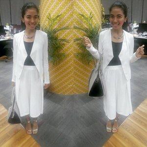 All white! #Clozette #clozetteID #work #strapheels #ootd