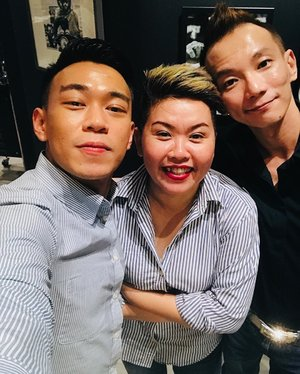 ~~ It's a good day to have a great day - nice matcha at a new cafe and new friendship with long term friend! Plus it's always cool to have a great hair cut 😉 Thanks for dropping by the salon, guys *_^ happy happy weekend!~~