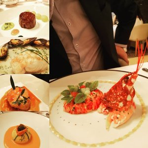 """French Fine Dining at its best... Les Amis, the French translation of 'The Friends,  has earned itself the reputation of being one of the best classic French restaurants in Asia,  In 2016, it was awarded 2 Michelin Stars"""" by Michelin Guide Singapore and 2017 """"Asia's 50 Best Restaurants (Ranked 16th)"""" by San Pellegrino & Acqua Panna.  It was designed by local architect Tan Kay Ngee. I love the sophistication and grandeur with its high ceilings, lush velvet walls, beautiful chandeliers, and the prized artworks by renowned Chinese artists.  I got more adventurous this time so besides trying the recommended set menu with blue lobster salad. French sea bass, sweetbread, plus ordered, we separately added the golden osetra caviar, sea urchin soufflé, langoustine and wagyu beef. Thanks to the staff recommendations. It was an awesome gastronomic experience under $1,000 for 2 pax with wine.  #lesamis #finedining #luxury #celestiaeats  #AsiaOneMostPromisingPersonality2018 #MrsChinatownInternationalAllNation2018 #MrsBeautifulSkin2018 #MrsChinatownSingapore2018 #celestiafaithchong  #beautydeconcierge #beautyconcierge #aesthetic #cosmeticsurgery #plasticsurgery #imageconsultant #marketer  #clozette #starclozetter #influencer #sgbloggers"""