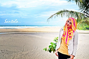 this is #me , i am in #Santolo #Beach Garut City #WestJava #Indonesia , #hijabers on #vacation #style,  if u are use hijab, choose shining colors, we can use  combination colors .. :D #clozette
