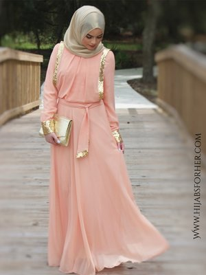 Modest Fashion Long evening dress for women wearing hijab or just want towear long dresses