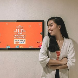 Excited for the first ever Big Christmas TV Special of Shopee in GMA7 happening later! Let's all watch at 10:30pm so we can get a chance to win over 11M worth of prizes including a motorcyle, a brand new SUV and house and lot!!! Set reminders for tomorrow! 🤗#ShopeeBigChristmasTVSpecial #Shopee #ShopeePH1111 #ShopeePH