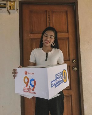 """Excited to unbox all the stuffs I got as @shopee celebrates 9/9 - FREE SHIPPING with NO MINIMUM spend! Get ready to fill up your carts and use my code """"SHP99ELAINE"""" to get Php 100 off (applicable to new user of the app only) 😉 So let's go and don't miss out on great deals! 🧡#ShopeePH #ShopeePH99 #Shopee99SuperShoppingDay"""