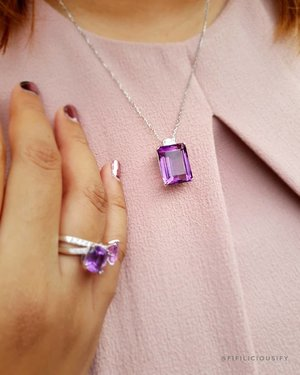 Purple Amethysts and a special piece of Mika with me ❤ . . . #larryjewelry fashion #armcandy #pursebop #lotd #ootd #purseboppicks #luxe #instasg #sgfashion #whatiwore #outfit #armcandy #bagaholic #purseaddict #clozette #style #instastyle #gemories #mauboussin #amethyst