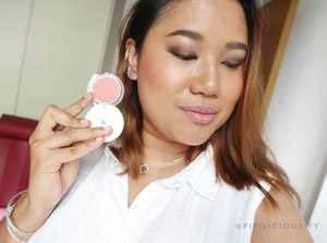An $8 blush which works: pigmented, compact, longwearing and flattering shades.  Shade: Spring Air 01 Brand: Couleur Inc (#Japanese)  I used to be able to find these at @guardiansg and #Mustafa ❤