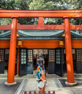 Do you know that Torii gate is a traditional Japanese gate most commonly found at the entrance of or within a Shinto shrine, where it symbolically marks the transition from the mundane to the sacred?