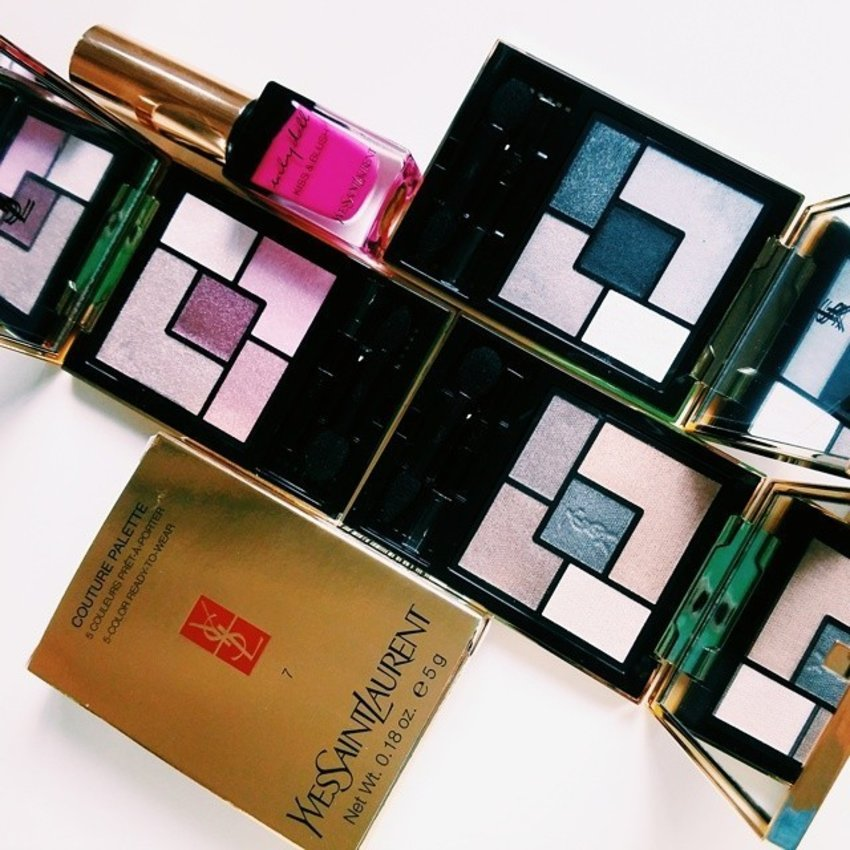 some of YSL's Couture Palettes that I haven't had the heart to use!