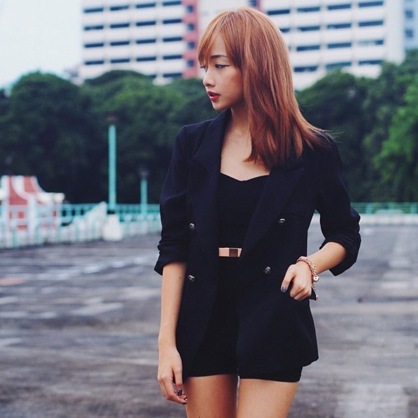 'I'll stop wearing black when they invent a darker colour