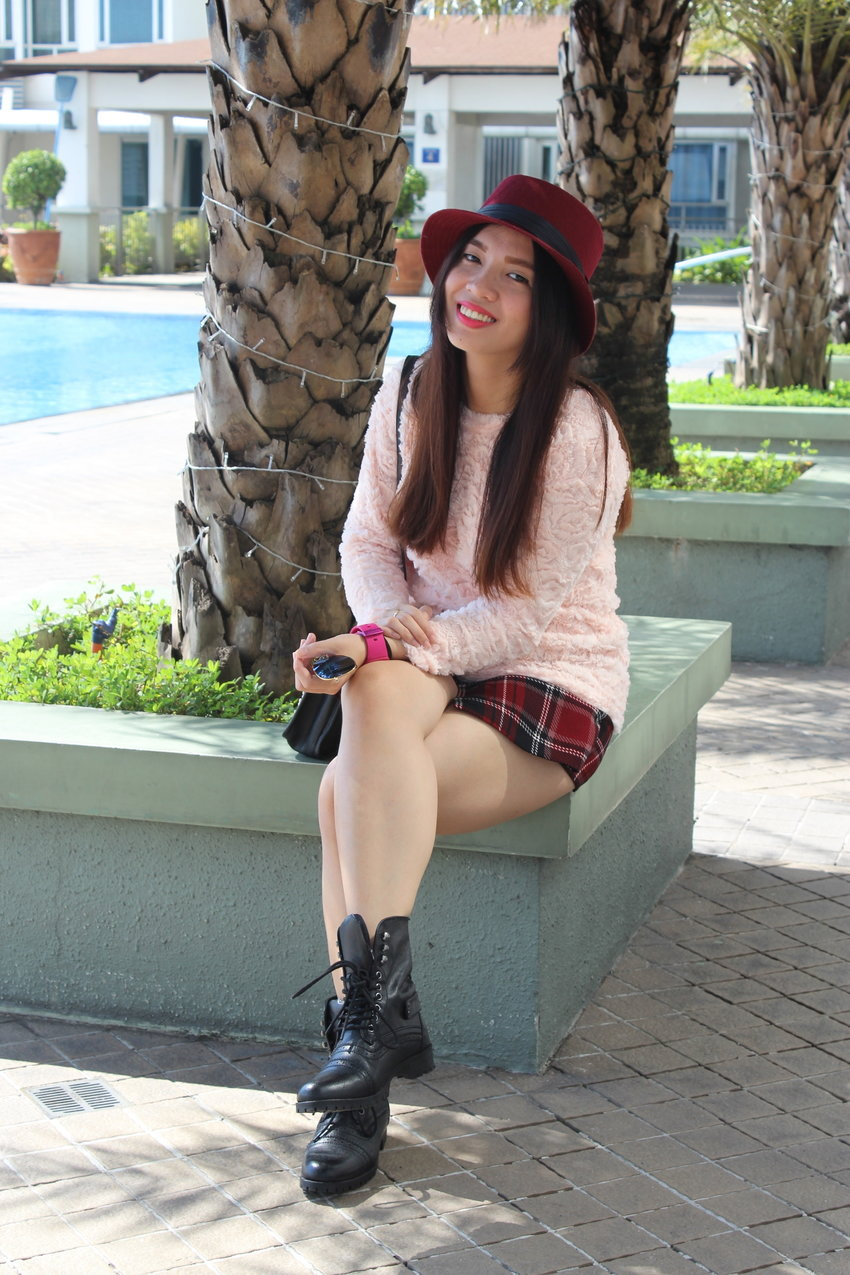 Cheers to new beginnings! Check this pink and red combo on the blog at http://itspatriciaandrada.tumblr.com/post/109929751988/new-beginnings #ootd #casual #clozette #patriciaandrada