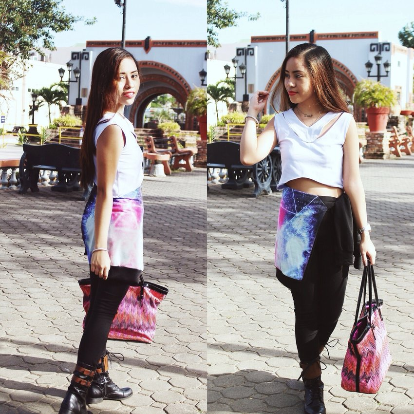 OOTD x Ripplesbyjenny x FashionspicemanilaSofia crop top from ripplesbyjennyHandcuffs and airplane necklace from fashionspicemanilaBoots from Forever21Bag from Kate SpadeOotd showing that longsleeves and jackets are all-around!