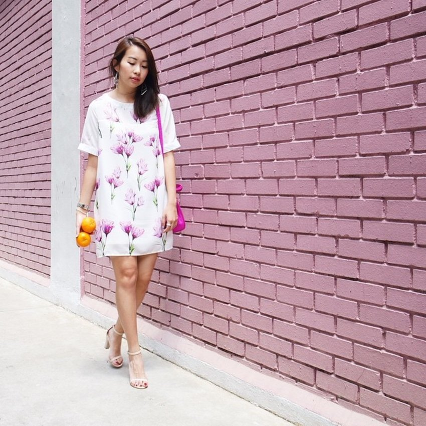 The perfect dress to hide the fats. 🙈 📷: @walaglen #ootd #clozette #ootdcampaign #stylexstyle #stylexCNY15  #cny