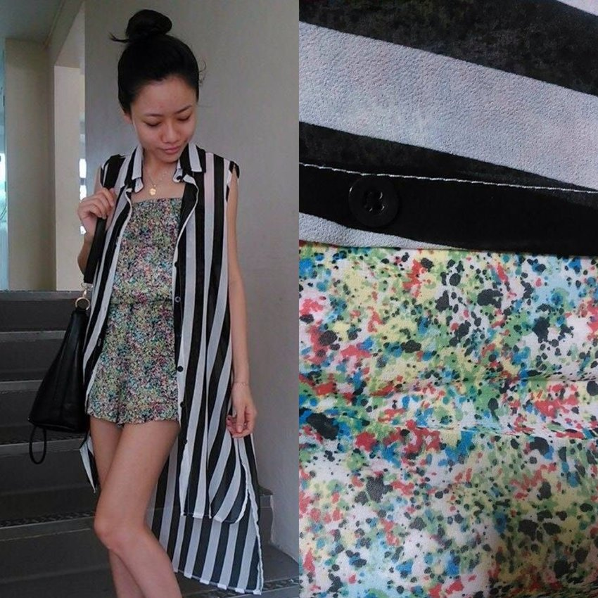 Heading out to the park! Wearing something light weight!  Hope all of you are enjoying your Sunday!  > Romper from Patterson J. Kincaid@eclecticism_laurenjasmine  > Overlay from Scape Underground Store  > Bucket Bag from Bugis Street